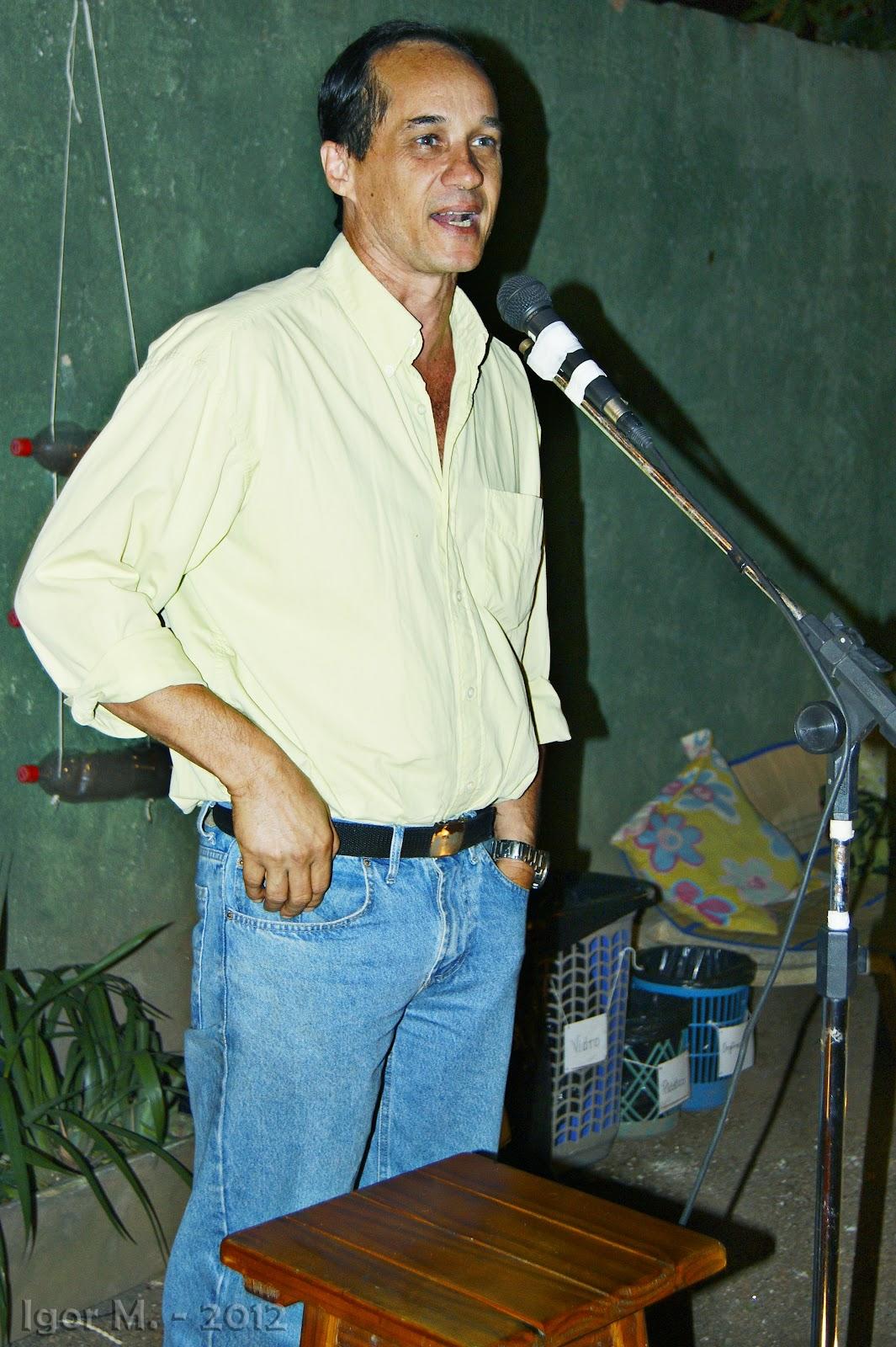 Marcelo Mello no Espaço Semear. Foto: Igor M.