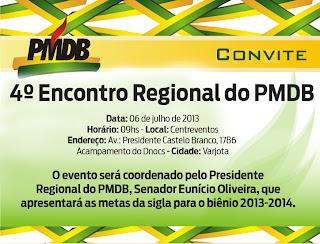 4º Encontro Regional do PMDB