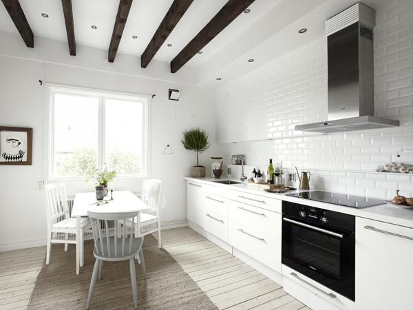 cocina apartamento nórdico clásico
