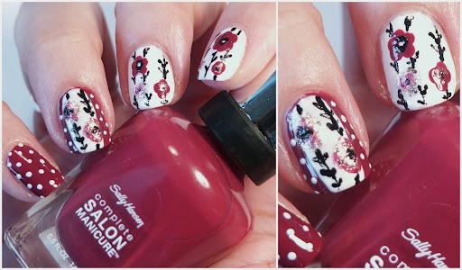 Autumn Flowers with Sally Hansen 703 Rhododendron