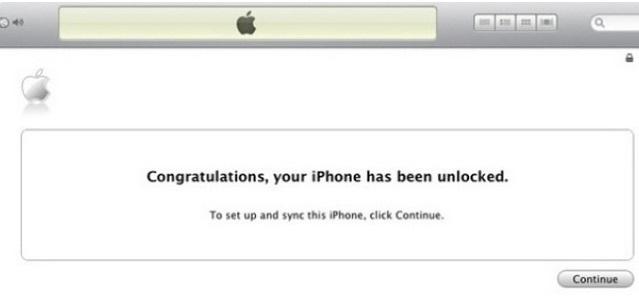 Unlock iPhone 4 iTunes