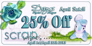 25% OFF SALE AT SCRAPWISHES