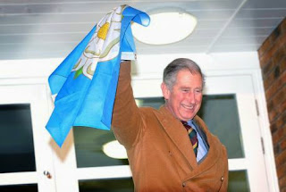 Prince Charles and Yorkshire flag