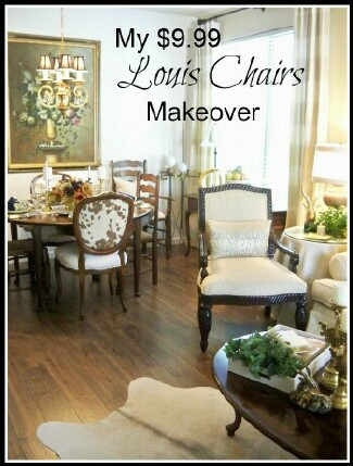 $9.99 Louis Chair Makeover