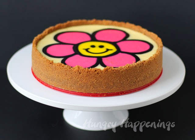 Decorated Homemade Cheesecake