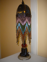 beaded lamp...SOLD