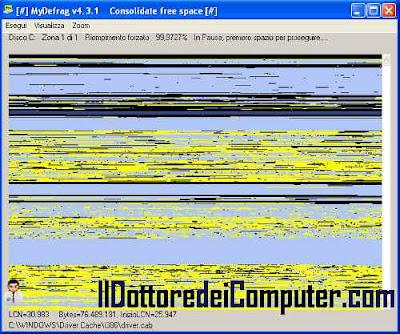 mydefrag deframmentare hard disk