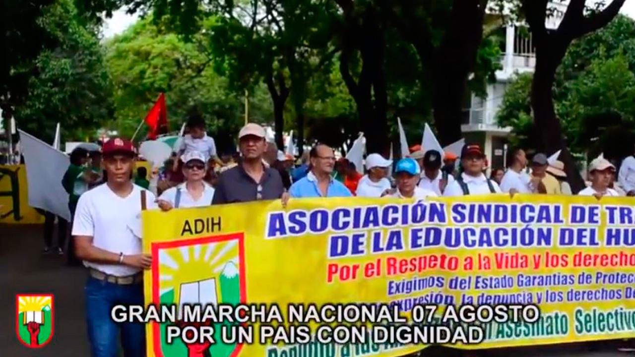 GRAN MARCHA NACIONAL 07 AGOSTO POR UN PAÍS CON DIGNIDAD