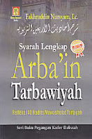 toko buku rahma: buku syarah lengkap arba'in tarbawiyah, pengarang fakhruddin nursyam, lc, penerbit bina insani, solo