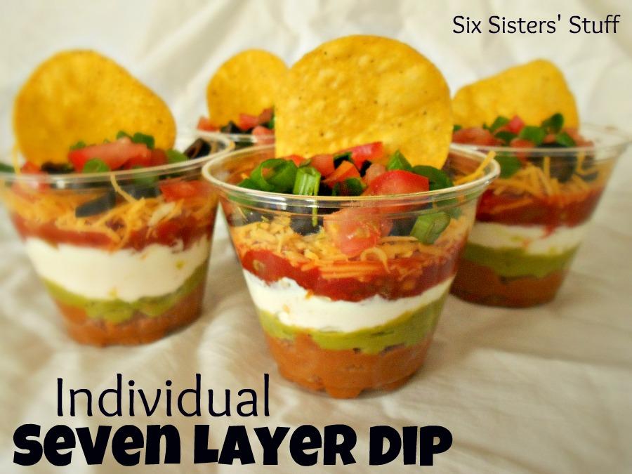 Individual Seven Layer Dip / Six Sisters' Stuff | Six Sisters' Stuff