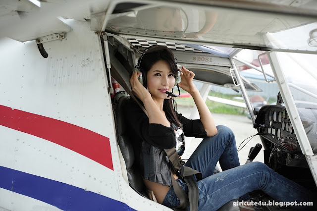 1 Cha Sun Hwa-Sexy Pilot-very cute asian girl-girlcute4u.blogspot.com