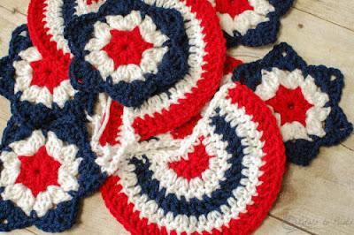 free crochet pattern 4th of july bunting