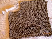 poncho tejido crochet, negro/plomo