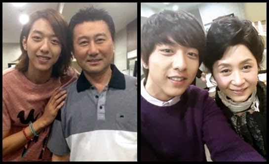 Jung Shin on the set of My Daughter Seo Young with Choi Jung Woo and Kim Hye Ok