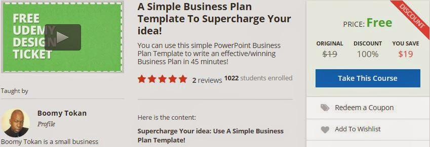 A Simple Business Plan Template To Supercharge Your Idea  Udemy