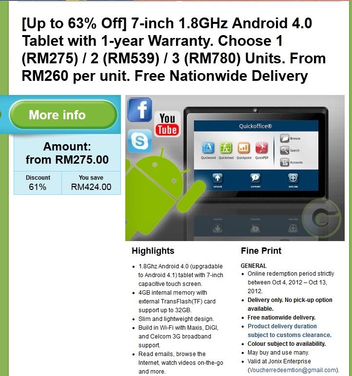 Mush MengOmel Android Tablet Hadiah Untuk Aqeef