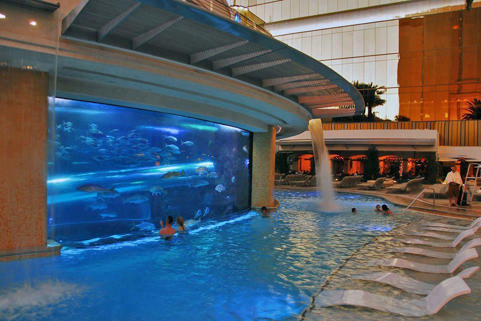My Amazing World Golden Nugget Exterior Pool Las Vegas