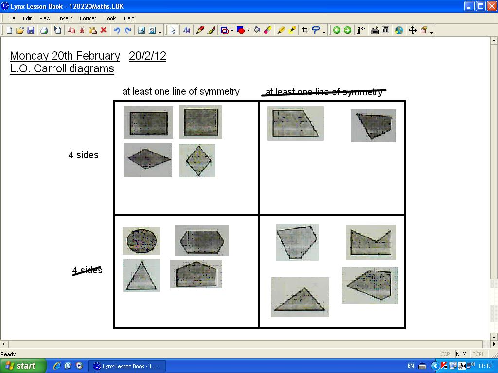 Mr howes class maths carroll diagrams maths carroll diagrams ccuart Image collections