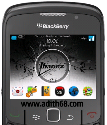 Download Tema Ibanez for Blackberry Gemini | Tema Blackberry Gratis 2013