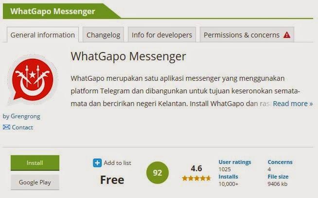 WhatGapo Messenger Aplikasi Bercirikan Negeri Kelantan