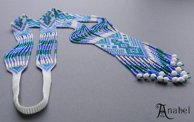 купить гердан гайтан из бисера, украшения ручной работы beadwork.