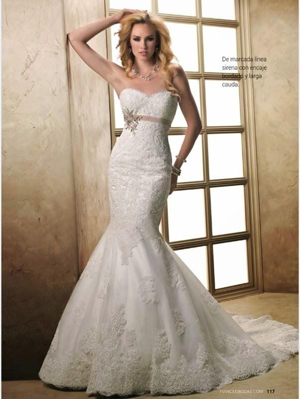 Vestido corte sirena con encaje 2015-1