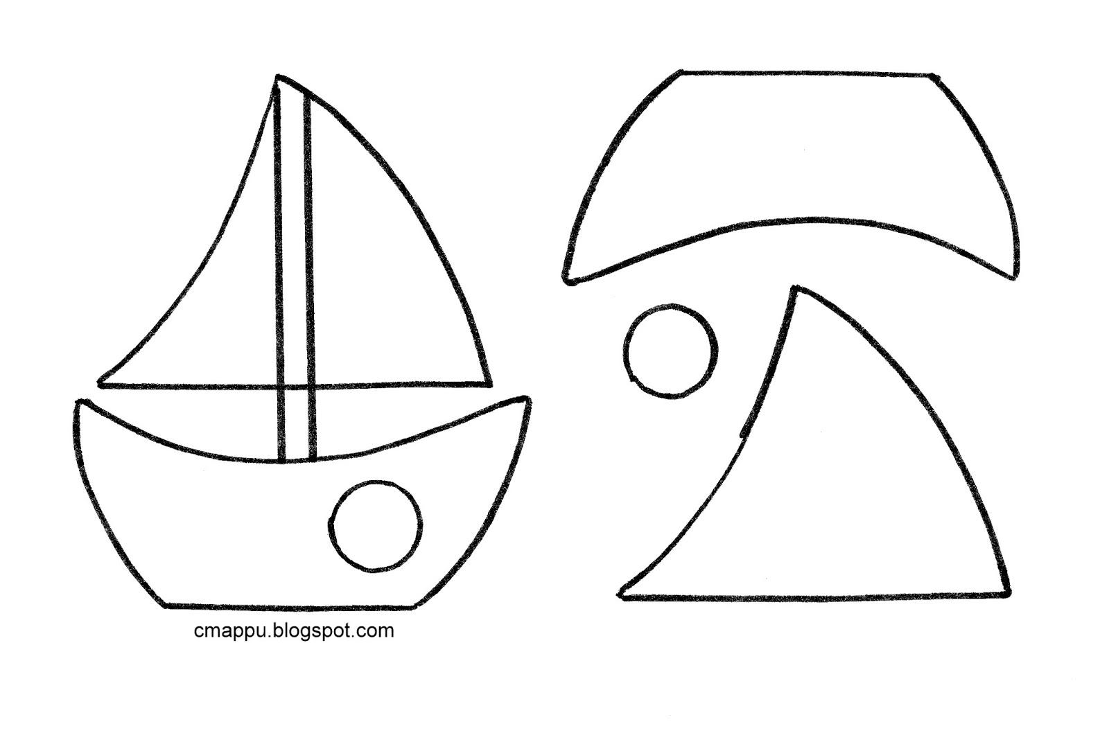 Выкройка кораблика из фетра
