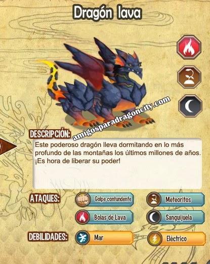 imagen de las caracteristicas del dragon lava