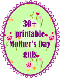mother's day printables: