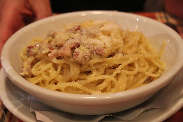 Spaghetti carbonara at Trattoria Melo, Rome, Italy