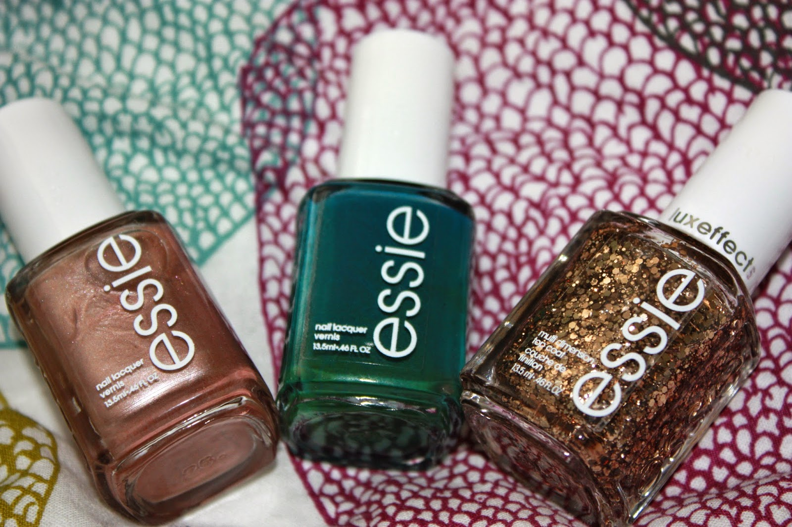 essie nail polish, go overboard, summit of style, buy me a cameo, nails