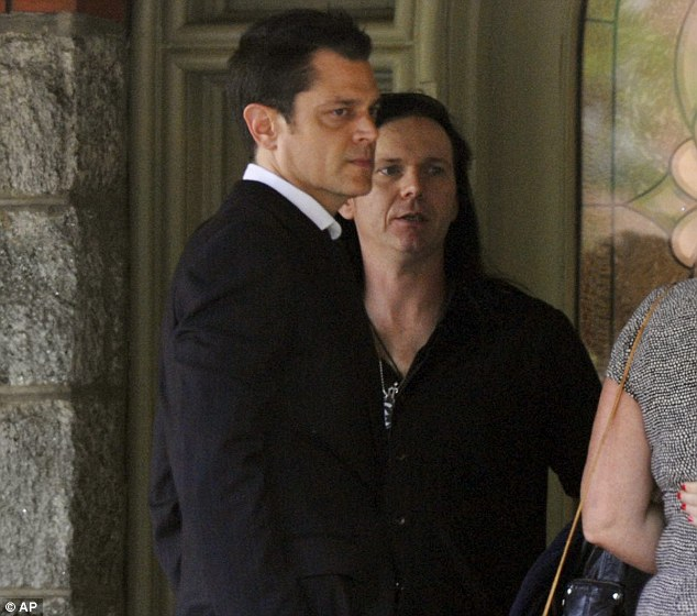 Grim-faced Johnny Knoxville leads the mourners at memorial service for Jackass star Ryan Dunn