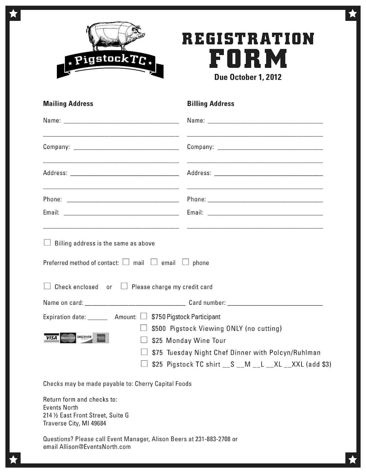 Application form registration form template printable for Sport registration form template