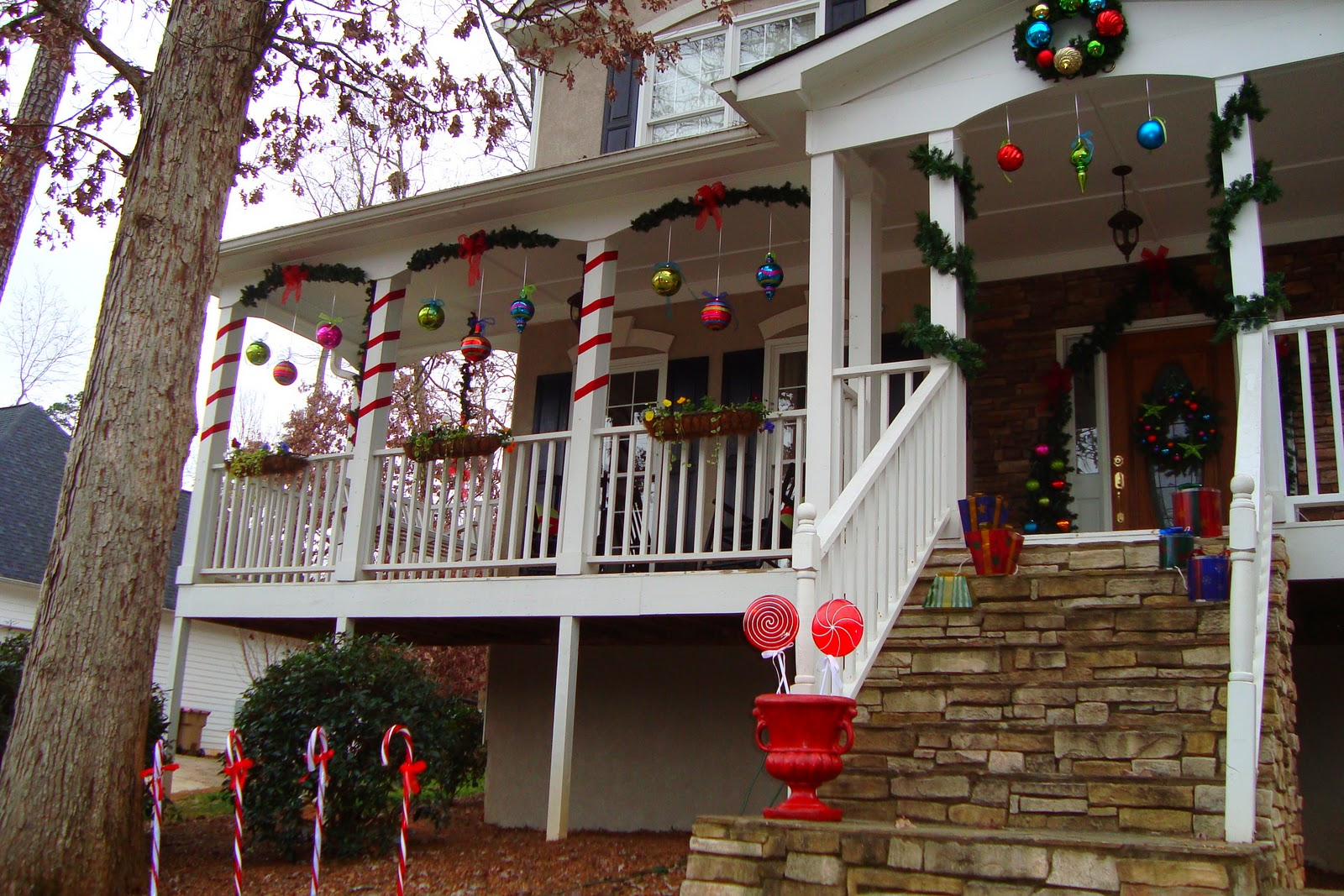 The essence of home christmas on the porch for Christmas decorations near me