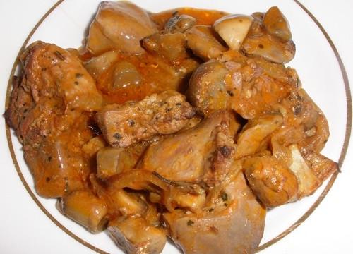 Печень куриная гуляш рецепт с пошагово