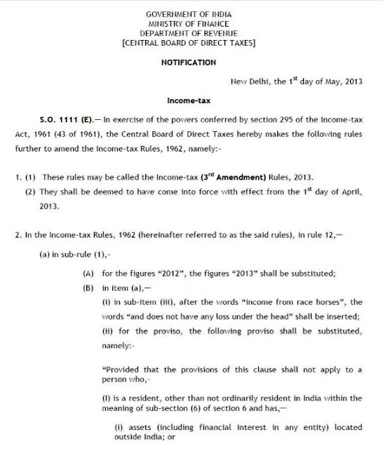 NOTIFICATION NO. 34 INCOME TAX YEAR 2013