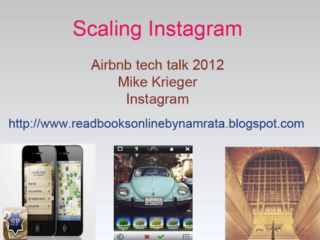 Mike Krieger, Instagram at the Airbnb tech talk, on Scaling Instagram
