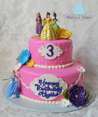 Carisa S Cakes Two Tiered Princess Cake