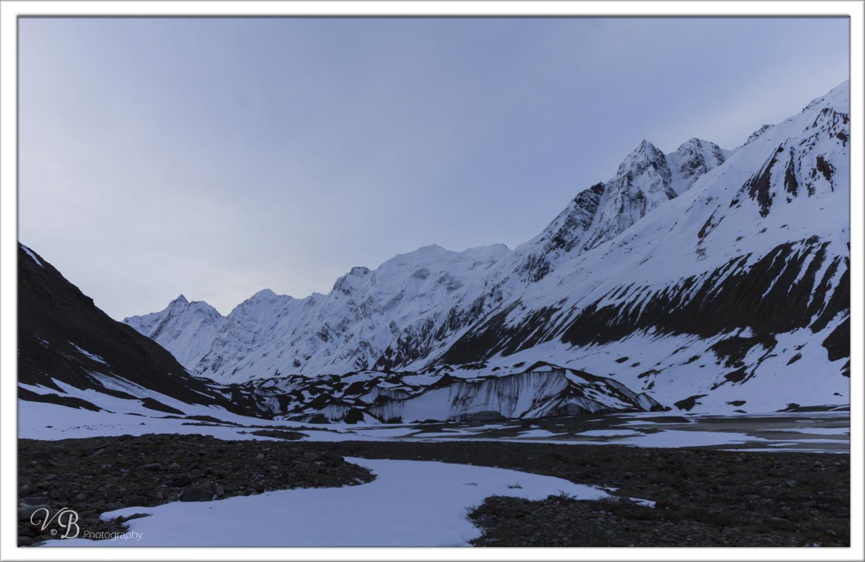 Baspa glacier snout , Lamkhaga pass trek