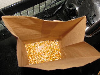 Place Popcorn Kernels in a Sack