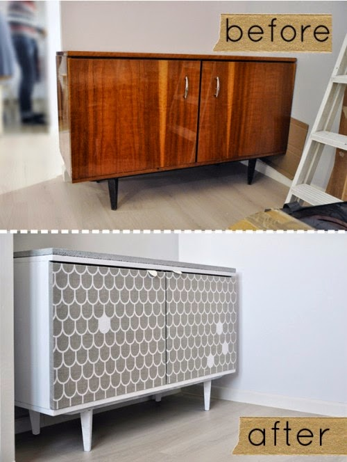 avant apr s tapisser un buffet initiales gg. Black Bedroom Furniture Sets. Home Design Ideas