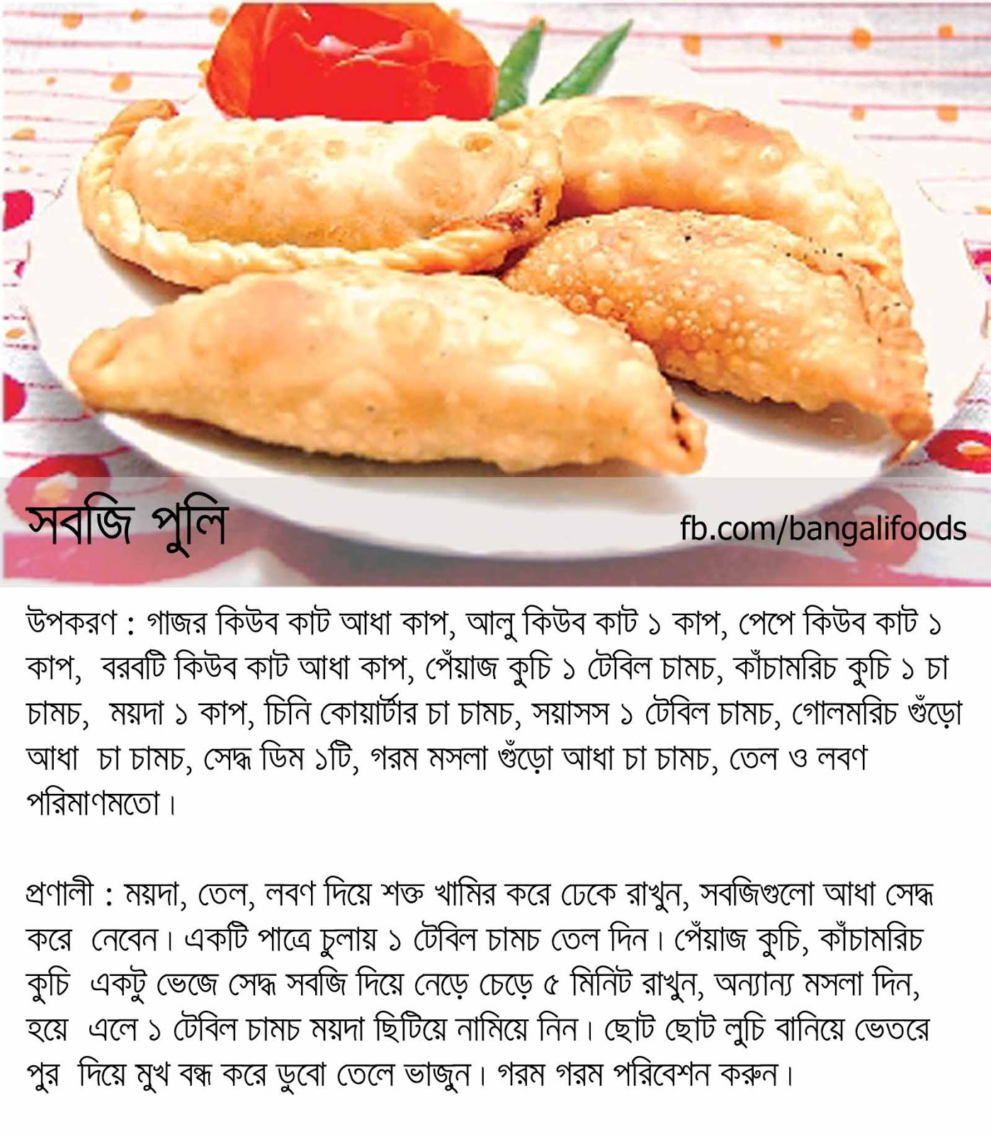 Bangali foods snack food recipes in bengali bengali recipe sobji puli forumfinder Gallery