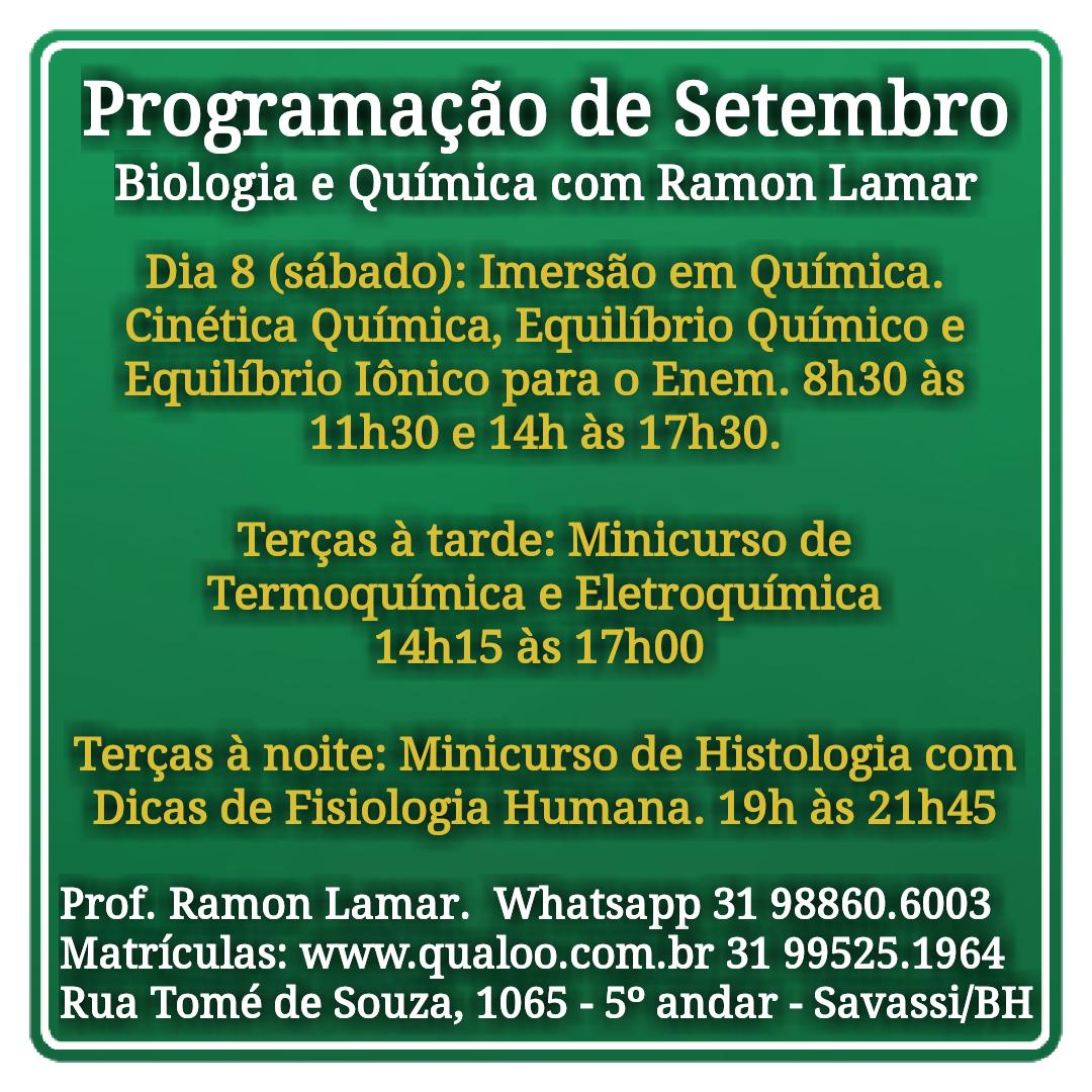 Aulas do Prof. Ramon Lamar em Belo Horizonte