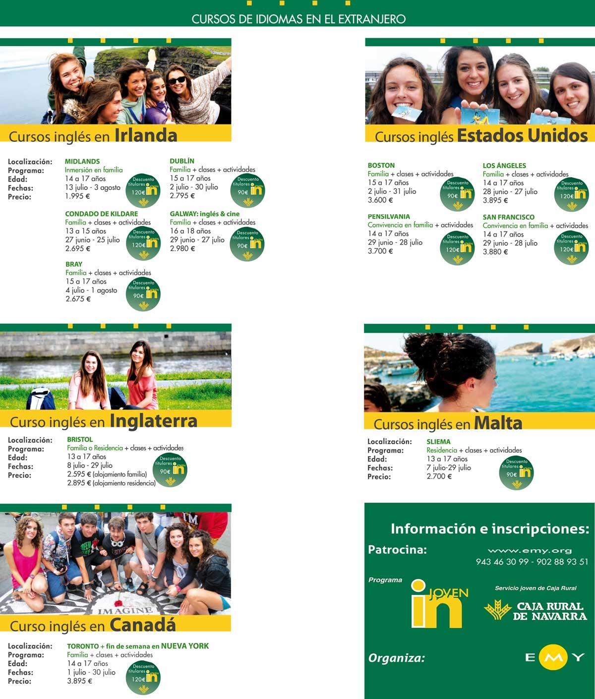 Joven in caja rural de navarra cursos de idiomas en el for Caja rural de navarra oficinas