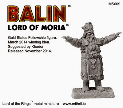 Balin, Lord of Moria Mithril Miniature
