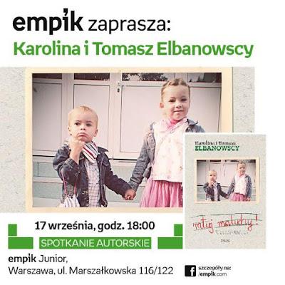 Zaproszenie na spotkanie autorskie z Karoliną oraz Tomaszem Elbanowskimi