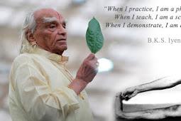 Legendaris Sang Master Yoga B. K. S. Iyengar