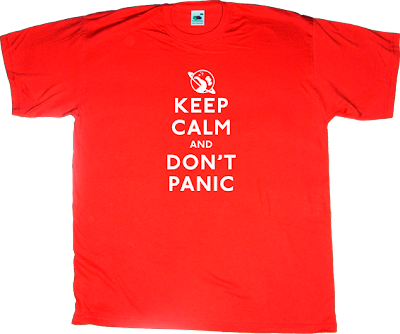 The Hitchhiker's Guide to the Galaxy movie t-shirt ephemeral-t-shirts