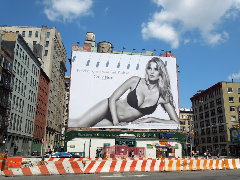 Calvin Klein bra underwear model billboard