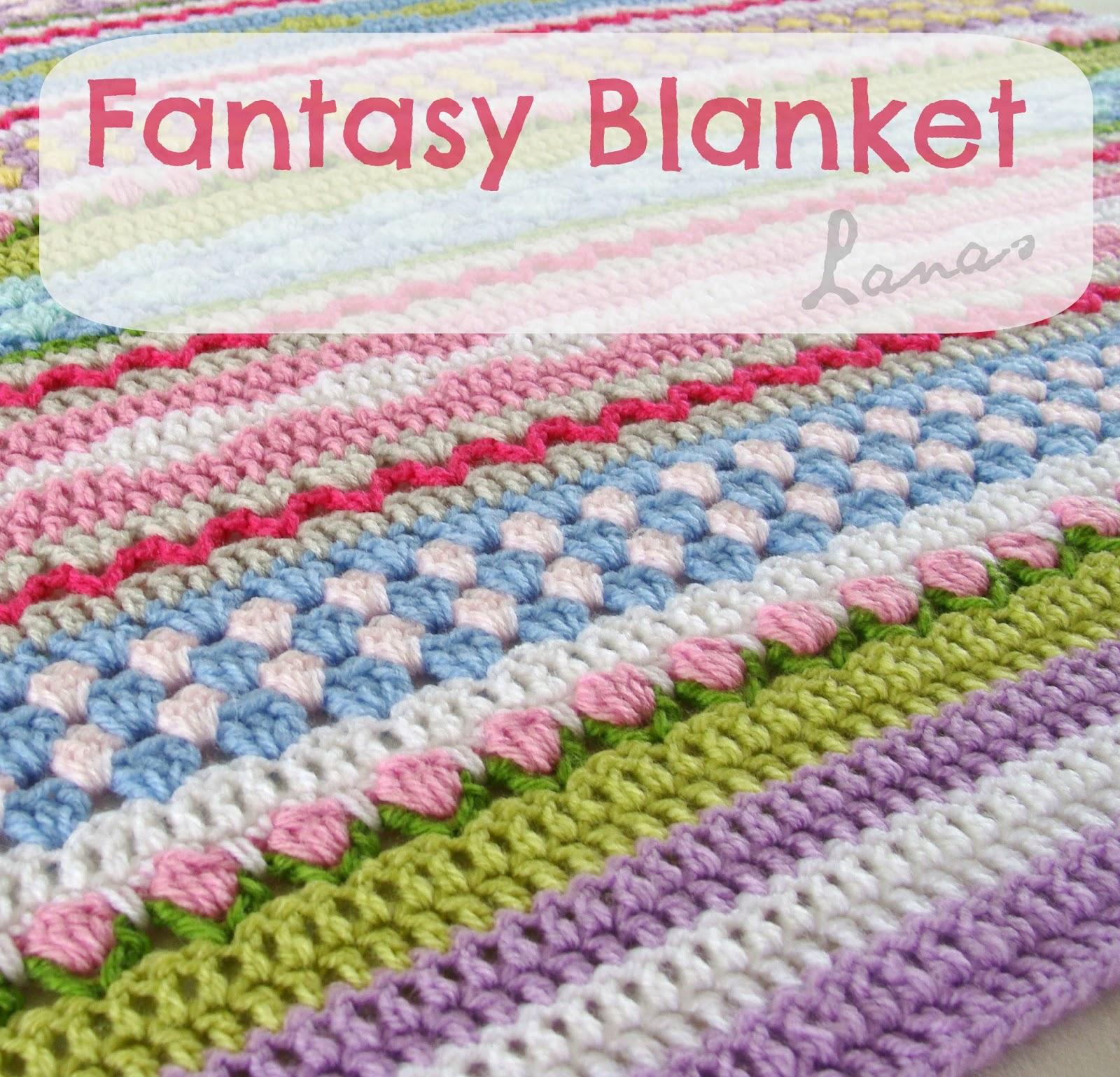 Crochet Fantasy : La Manta Fantas?a est?inspirada en el Reto para usar las lanas ...